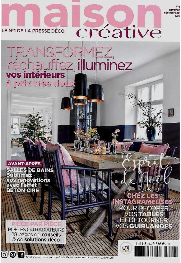 Maison Créative magazine November and December 2016