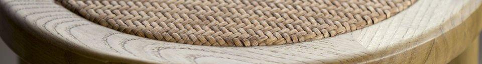 Materialbeschreibung Barhocker Pampelune Natürliches Finish