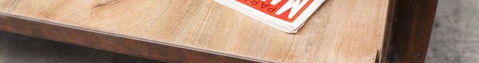 Materialbeschreibung Couchtisch Art im Industriedesign