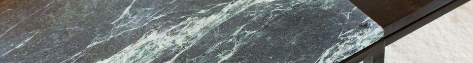 Materialbeschreibung Großer Couchtisch aus grünem Marmor Avedore