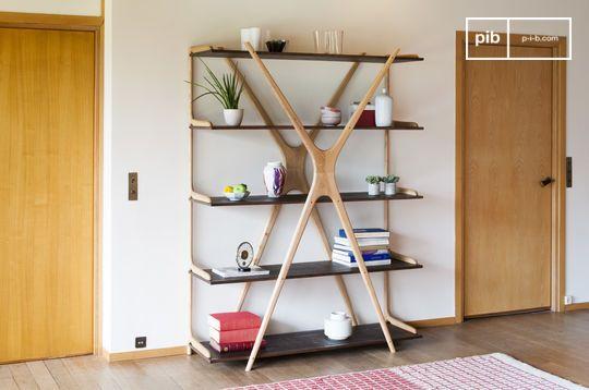 Großes Bücherregal aus Holz Waverly