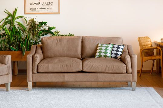 Heidsieck 2-Sitzer Zimt Sofa