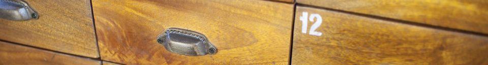 Materialbeschreibung Holz-Metall Kommode Shawinigan