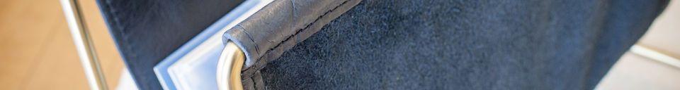 Materialbeschreibung Lederzeitschriftenhalter Liten Jorgen
