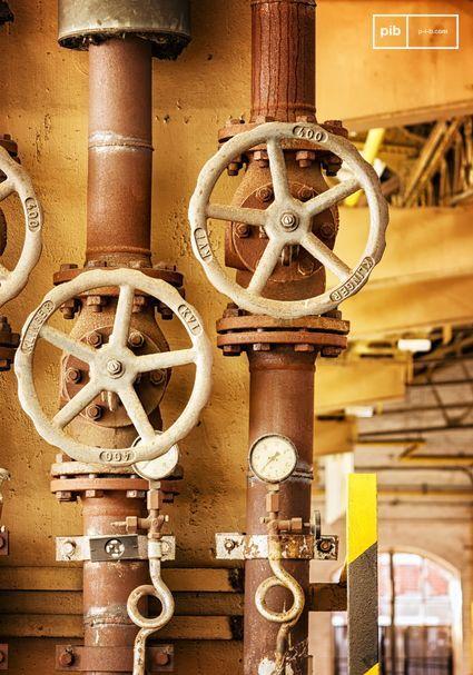 Metalle wie Eisen, Kupfer, Zinn, Stahl und Aluminium passen perfekt zum Industrial-Stil.