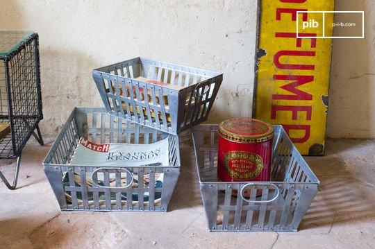 Metallkörbe im Dreier-Set
