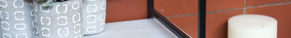 Materialbeschreibung Modulkonsole aus Marmor Bridget