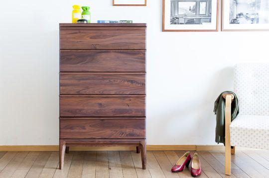 Nussbaum Sideboard Hemët mit 5 Schubladen
