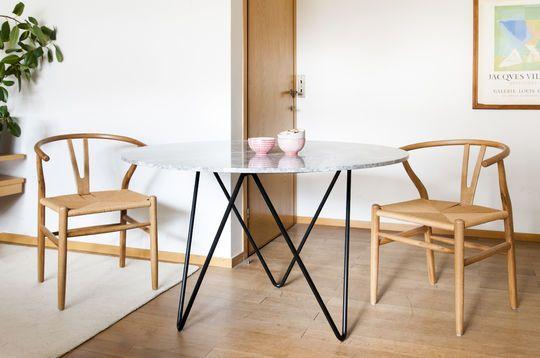 Runder Tisch aus Marmor Grimaud