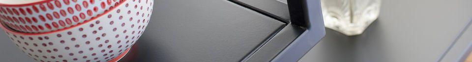 Materialbeschreibung Schwarze Metallkonsole Duvignac