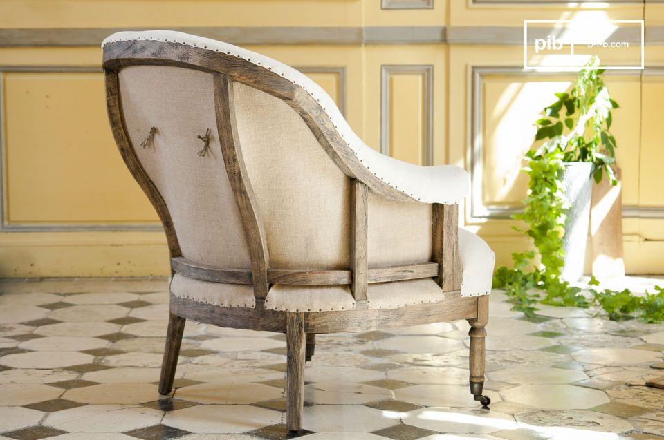 Der Sessel Léonie Rund ist ein schöner Sessel aus weißem Stoff