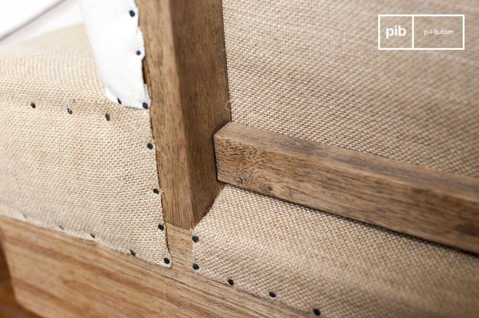 Sofa aus Stoff Gustave - Leinen Sofa shabby chic Stil | pib