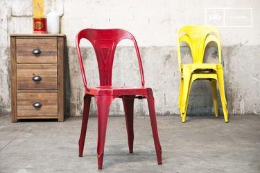 Vintage-Stuhl Multipl's Rot