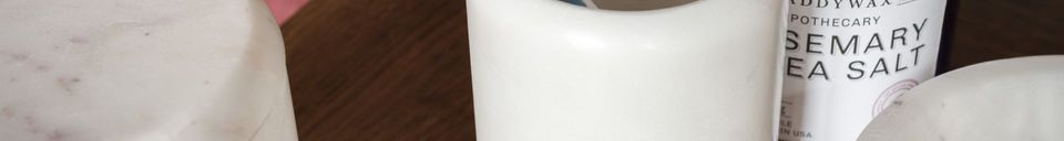 Materialbeschreibung Weißer Marmorbehälter Wäg